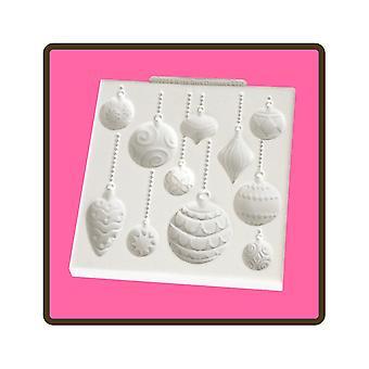 Katy Sue designs julekugler silikone skimmel