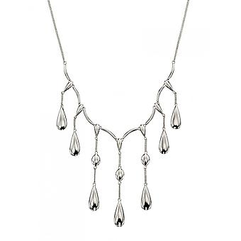 Joshua James Motive Silver Teardrop Necklace