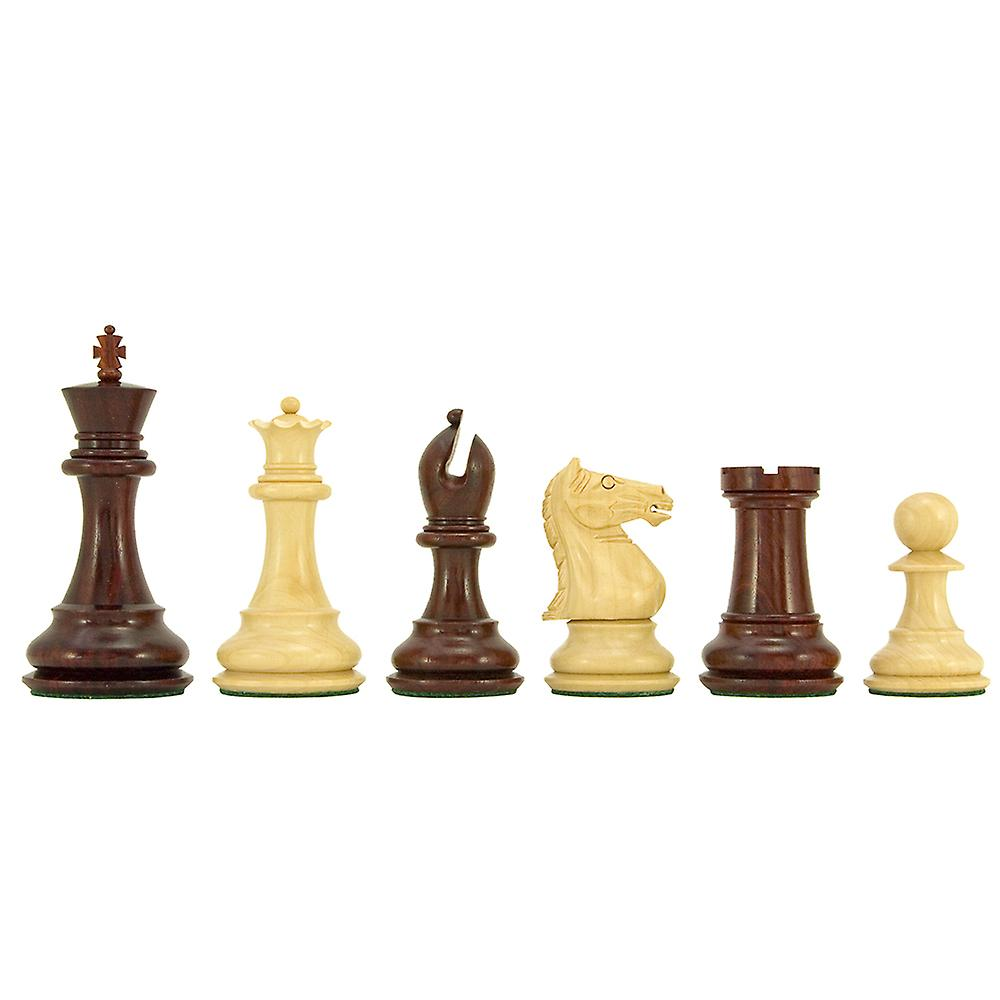 Sentinel Series Red Sandalwood Staunton Chess Pieces 4 Inches