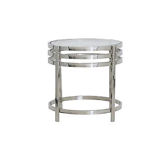 Light & Living Side Table 50x50cm Angol Glass And Nickel