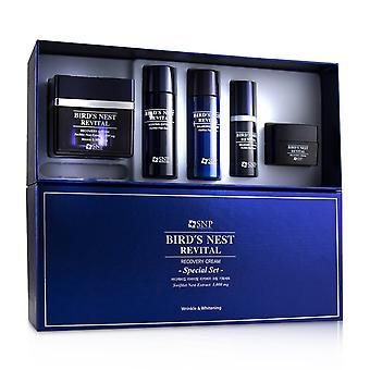Bird's Nest Revitalisierung Creme Falten & Aufhellung Set: Creme 50g, Weichmacher 31ml, Emulsion 31ml, Essenz 10ml, Creme 10g 242194 5pcs