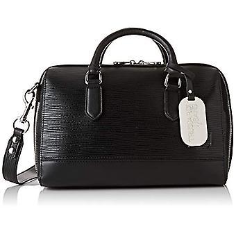 Trussardi Jeans T-Easy City Handle Bag MD Saff Black Women's Hand Bag (Black) 16x20x30 cm (W x H x L)