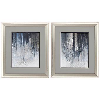 """19"""" X 22"""" Brushed Silver Frame Summer Woods (Set of 2)"""