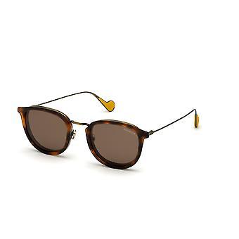 Moncler ML 0126 52J Dark Havana/Roviex Sunglasses