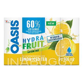 Oasis Tetra Hydra Frucht Zitrone Eistee-( 200 Ml X 8 Dosen)