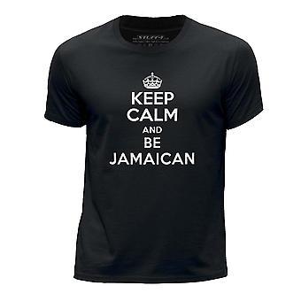 STUFF4 Guttens rund hals T-skjorte/holde ro bli Jamaica/svart