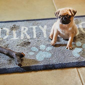 Hurleur & zéro sale chien tapis 1 en gris et bleu