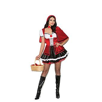 Elegant Moments Womens Storybook Red Riding Hood Halloween Costume