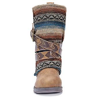 MUK LUKS Women's Nikki Brown Fashion Boot
