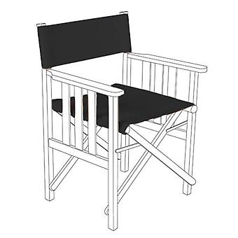 Black Director Chairs Replacement Polyurethane Coated Canvas Covers Garden