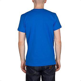 adidas Originals Mens Adi Trefoil Logo T-Shirt Crew Neck Tee Top Blue - B Grade