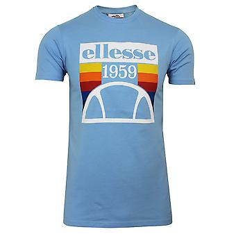 Ellesse pirozzi menn's lyseblå t-skjorte