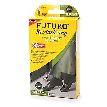 Futuro revitalizing trouser socks, moderate, black, large, 1 pair
