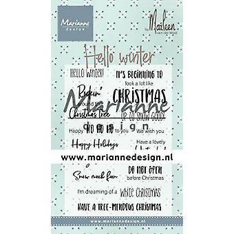 Marianne Design Clear Stamp - Marleen's Hello Winter CS1037