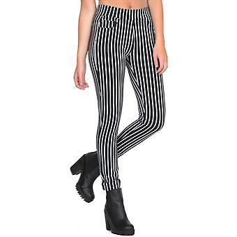Slim Skinny Stretch nautische stijl Stripe Jeggings