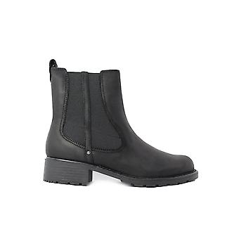 Clarks Orinoco Club Black ou Brown Leather Womens Pull On Chelsea Boots