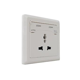 LumoS branca 3 soquete de parede única tomada pino Multi & USB carregador do telefone