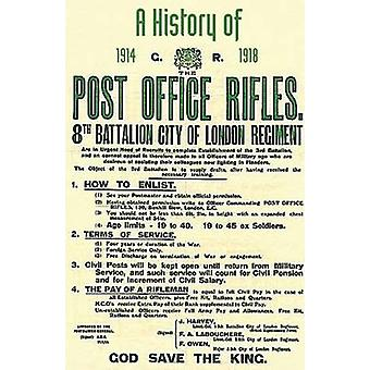 History of the Post Office Rifles 8th Battalion City of London Regiment 1914 to 1918 by One of the Battalion Commanders