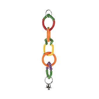 Caldex klasyczny owocowy Swing pierścienie ptak zabawka