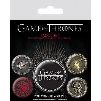 Game of Thrones Cele patru case mari Pin Button Insigne Set