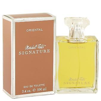 Marshall Fields Signature Oriental by Marshall Fields Eau De Toilette Spray (Scratched box) 3.4 oz / 100 ml (Women)
