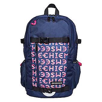 Chiemsee 2-SCHOOL Backpack - 47 cm - 22 liters - Multicolor (Dark Blue/Pink)