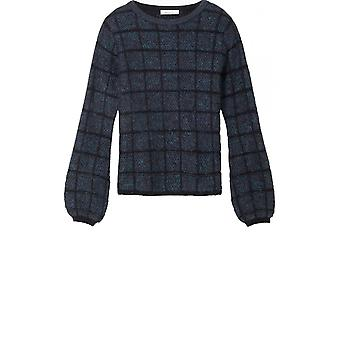 Sandwich Clothing Check Textured Knit Jumper