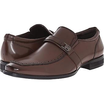 Kenneth Cole Mens Pat On The Back Square Toe Penny Loafer