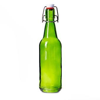 16 oz Green Grolsch Bottle
