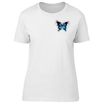 Upperside blå sommerfugl Tee kvinders-billede af Shutterstock