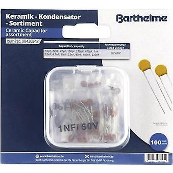 Barthelme Zestaw kondensatorów ceramicznych 50 V DC 100 szt.
