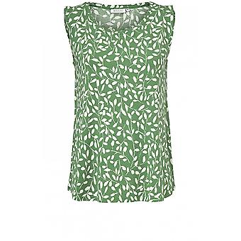 Masai Clothing Elisa Green Leaf Design Top