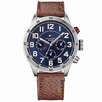 Tommy Hilfiger 1791066 Roestvrij staal met Brown Leather Band Men's Watch