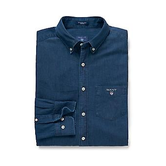 Gant Men&s Regular Fit Indigo Dark Denim Koszula
