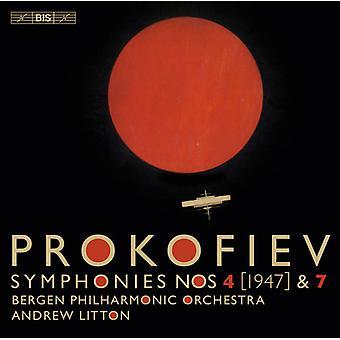 Prokofiev / Bergen Philharmonic Orchestra - Prokofiev: Symphonies 4 & 7 [SACD] USA import