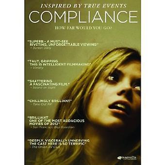Overholdelse [DVD] USA importerer