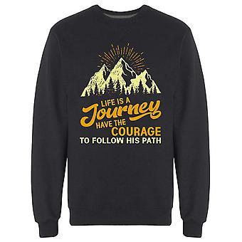 Livet är en resa Design Sweatshirt Men & apos; s -Bild av Shutterstock