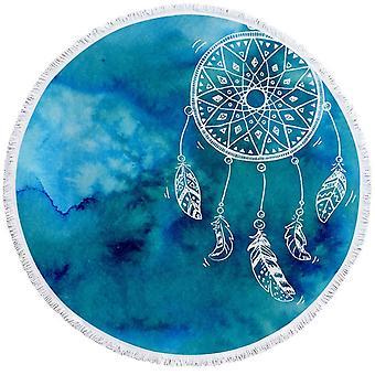 الأزرق خلفية حلم الماسك منشفة الشاطئ