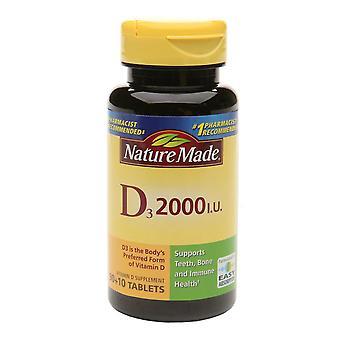 Nature made vitamin d3, 2000 iu, tablets, 100 ea *