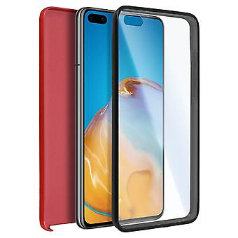 Cover Huawei P40 Hard Back + Soft Front Protection Red