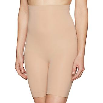 Arabella Women'dikişsiz yüksek bel uyluk kontrol şekil giyim, çıplak, orta