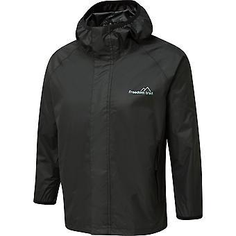 Freedom Trail Boys' Stowaway Waterproof Jacket Zwart