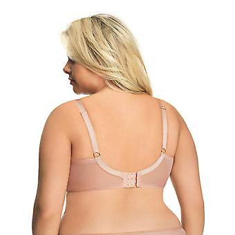 Gorsenia K550 Women's Magic Rose Beige Non-Padded Underwired Full Cup Bra