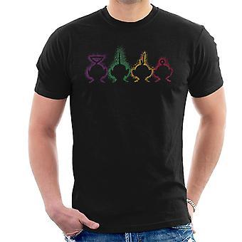 Teletapit yhdessä Outline Miehet's T-paita