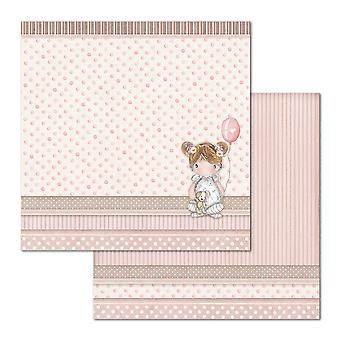 Stamperia Little Girl Balloon 12x12 Inch Paper Sheets (10pcs) (SBB680)