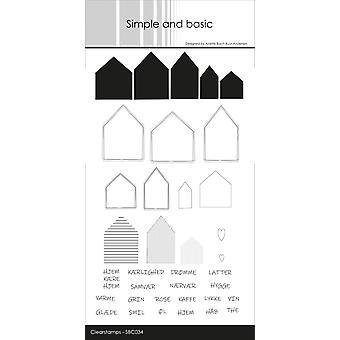 Enkla och grundläggande danska texter 1 Clear Frimärken