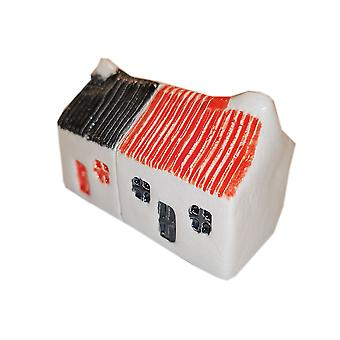 Wee Semi-detached Bothies Tin-roofed Black & Red by Glenshee Pottery