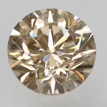 Cert 0.70 カラット ライト ブラウン VVS1 ラウンド ブリリアント ナチュラル ルーズ ダイヤモンド 5.59mm