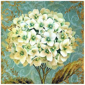 Kunstdruck auf Leinwand - Hortensie - Wanddeko, Canvas