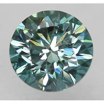 Cert 0.72 Ct Vivid Blue VVS2 Okrągły Brilliant Ulepszony Naturalny Diament 5.63mm 3EX